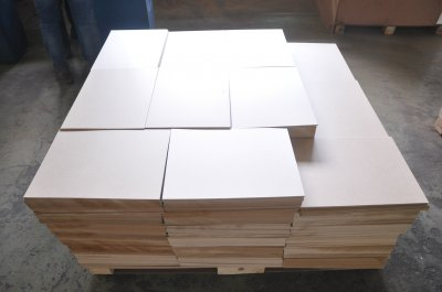 2.7mm wooden melamine coated fiberboard backup sheet for PCB